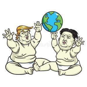 baby-trump-kim-jong-un-playing-globe-cartoon-illustration-may-drawing-93078365