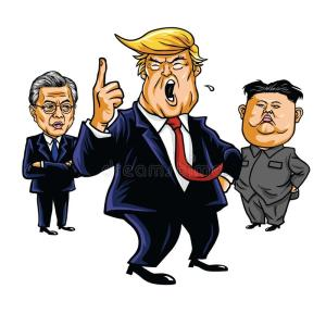 donald-trump-kim-jong-un-moon-jae-cartoon-vector-illustration-september-drawing-100456938