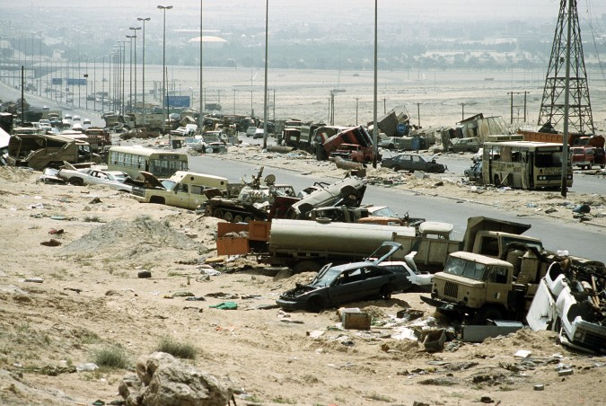 destroyed-iraqi-civilian-and-military-vehicles-on-the-highway-of-death